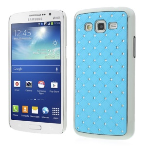 Rhinestone Starry Sky Plated Hard Cover for Samsung Galaxy Grand 2 Duos G7102 G710S - Baby Blue