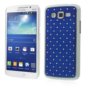 Rhinestone Starry Sky Plated Hard Case for Samsung Galaxy Grand 2 Duos G7102 G7100 - Dark Blue