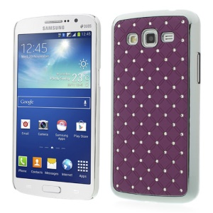 Rhinestone Starry Sky Plating Plastic Case for Samsung Galaxy Grand 2 Duos G7102 G7105 - Purple