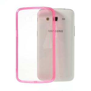 Rose Glossy Crystal Clear Acrylic + TPU Hybrid Case for Samsung Galaxy Grand 2 G7102 G7105