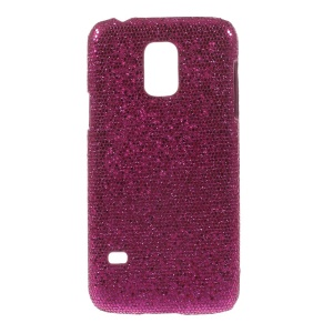 Rose Glittery Sequins Leather Coated Hard Protective Case for Samsung Galaxy S5 Mini SM-G800