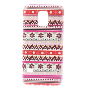 For Samsung Galaxy S5 Mini SM-G800 Plastic Hard Case - Snowflake & Geometry Pattern