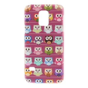 For Samsung Galaxy S5 Mini SM-G800 Plastic Hard Cover - Multiple Owls Pattern
