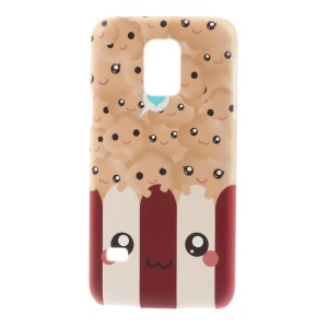 For Samsung Galaxy S5 Mini SM-G800 Plastic Hard Back Case - Kawaii Popcorn Pattern