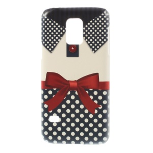 For Samsung Galaxy S5 Mini SM-G800 Plastic Hard Protective Case - Bowknot & Dots Shirt