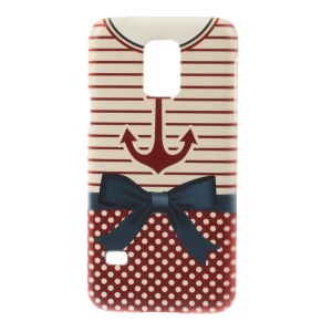 For Samsung Galaxy S5 Mini SM-G800 Plastic Hard Protective Cover - Anchor Stripe Shirt