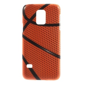 For Samsung Galaxy S5 Mini SM-G800 Plastic Protective Slim Shell - Basketball Pattern