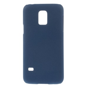 Matte Quicksand Hard Case for Samsung Galaxy S5 mini G800 - Deep Blue
