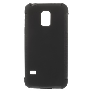 PC + TPU Hybrid Case w/ Built-in Screen Protector for Samsung Galaxy S5 mini G800 - Black