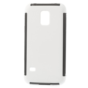PC + TPU Hybrid Case for Samsung Galaxy S5 mini G800 w/ Built-in Screen Protector - White