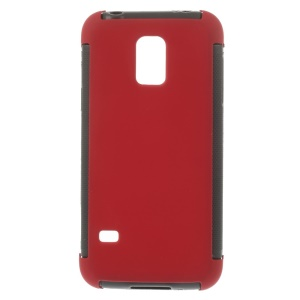 PC + TPU Hybrid Cover for Samsung Galaxy S5 mini G800 w/ Built-in Screen Protector - Red