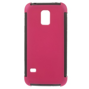PC + TPU Hybrid Cover for Samsung Galaxy S5 mini G800 w/ Built-in Screen Protector - Rose