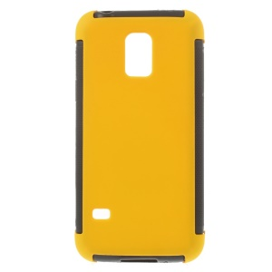 For Samsung Galaxy S5 mini G800 PC + TPU Shell Case w/ Built-in Screen Protector - Yellow