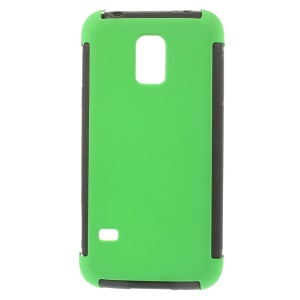 For Samsung Galaxy S5 mini G800 PC + TPU Shell Cover w/ Built-in Screen Protector - Green