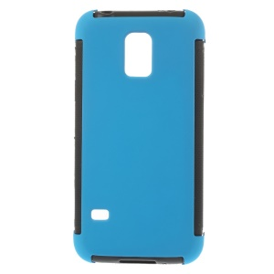For Samsung Galaxy S5 mini G800 PC + TPU Hybrid Shell w/ Built-in Screen Protector - Blue