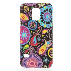 Paisley Flowers PC Hard Skin Case for Samsung Galaxy S5 Mini G800