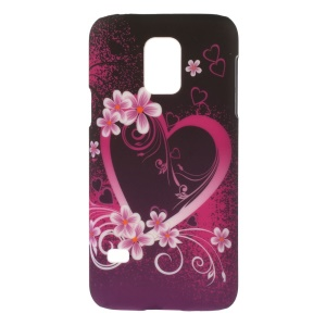 Flowered Heart PC Hard Case Accessory for Samsung Galaxy S5 Mini G800