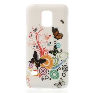 Vivid Circles & Butterflies for Samsung Galaxy S5 Mini G800 PC Hard Phone Case