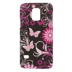 For Samsung Galaxy S5 Mini G800 Butterflies & Flowers PC Hard Shell Case