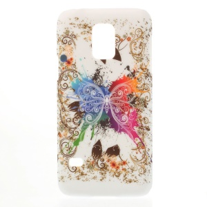 For Samsung Galaxy S5 Mini G800 Laces & Colored Butterfly Plastic Hard Case