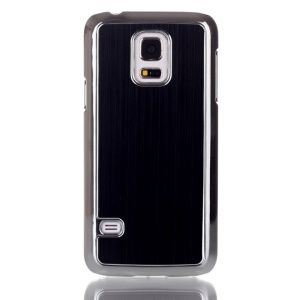 For Samsung Galaxy S5 mini G800 Brushed Skin Plating PC Hard Case - Black