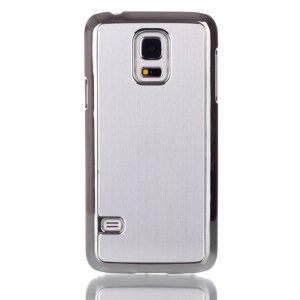 For Samsung Galaxy S5 mini G800 Brushed Skin Plating PC Hard Shell - Silver