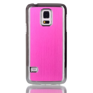 For Samsung Galaxy S5 mini G800 Brushed Skin Plating PC Shell Case - Rose