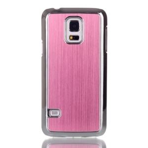 For Samsung Galaxy S5 mini G800 Brushed Skin Plating PC Cover Case - Pink