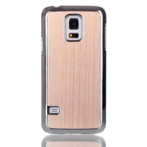 Brushed Skin Plating PC Case Cover for Samsung Galaxy S5 mini G800 - Gold