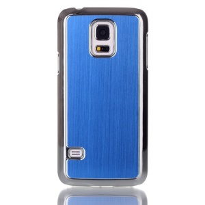 Brushed Skin Plating PC Hard Cover for Samsung Galaxy S5 mini G800 - Blue
