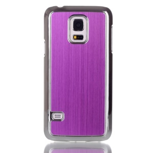 Brushed Skin Plated PC Hard Case for Samsung Galaxy S5 mini G800 - Purple