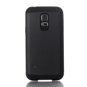 Dots Pattern PC & TPU Combo Cover for Samsung Galaxy S5 Mini G800 - Black