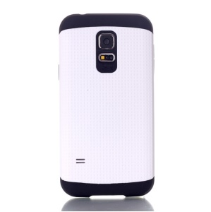 Dots Pattern PC & TPU Combo Cover for Samsung Galaxy S5 Mini G800 - White