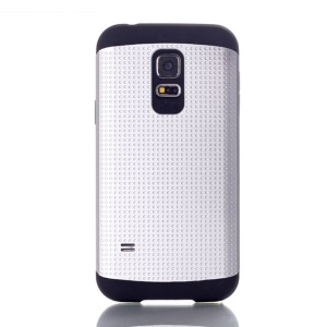 For Samsung Galaxy S5 Mini G800 Dots Pattern PC & TPU Shield Shell Case - Silver