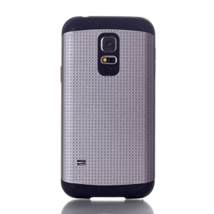 Dots Pattern PC & TPU Combo Cover for Samsung Galaxy S5 Mini G800 - Grey