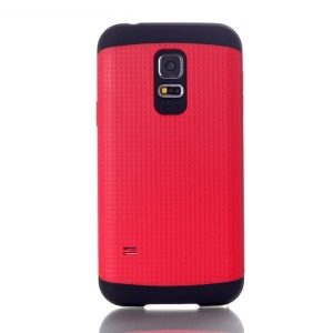 Dots Pattern PC & TPU Combo Cover for Samsung Galaxy S5 Mini G800 - Red