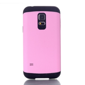Dots Pattern PC & TPU Combo Back Case for Samsung Galaxy S5 Mini G800 - Pink