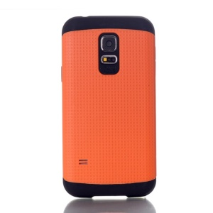 Dots Pattern PC & TPU Combo Back Case for Samsung Galaxy S5 Mini G800 - Orange