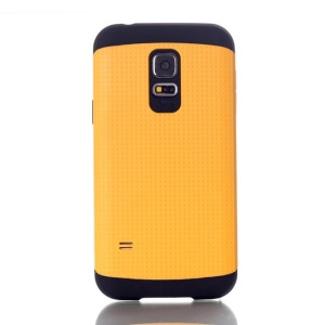 Dots Pattern PC & TPU Combo Back Case for Samsung Galaxy S5 Mini G800 - Yellow