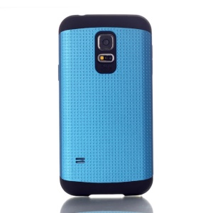 For Samsung Galaxy S5 Mini G800 Dots Pattern PC & TPU Shield Shell Case - Light Blue