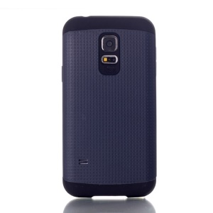 For Samsung Galaxy S5 Mini G800 Dots Pattern PC & TPU Shield Shell Case - Deep Blue