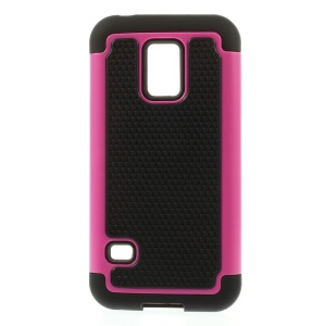 Rose for Samsung Galaxy S5 Mini G800 Football Grain PC + Silicone Hybrid Case