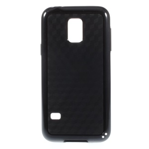 Rhombus Pattern PC + TPU Combo Case for Samsung Galaxy S5 Mini G800 - Black