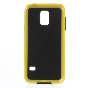 Rhombus Pattern PC + TPU Hybrid Shell for Samsung Galaxy S5 Mini G800 - Yellow