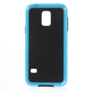 Rhombus Pattern PC + TPU Protective Case for Samsung Galaxy S5 Mini G800 - Blue