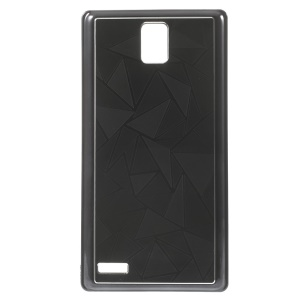 Water Cube Pattern Plating Metal Protective Case for Hongmi Note - Black