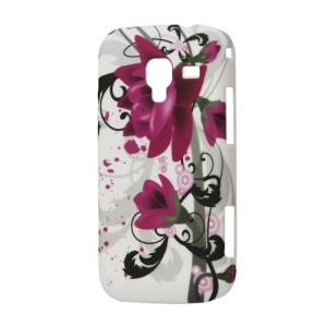 Rubberized Lotus Flower Hard Case for Samsung Galaxy Ace 2 I8160