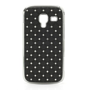 Starry Sky Sparkling Rhinestone Electroplating Hard Case for Samsung Galaxy Ace 2 I8160 - Black