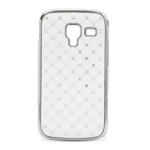 Starry Sky Sparkling Rhinestone Electroplating Hard Case for Samsung Galaxy Ace 2 I8160 - White