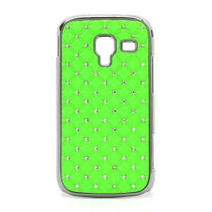 Starry Sky Sparkling Rhinestone Electroplating Hard Case for Samsung Galaxy Ace 2 I8160 - Green